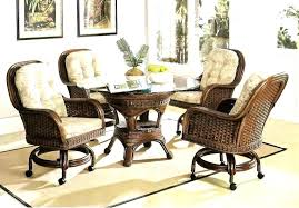 dining room chairs on wheels dining chairs on wheels marvelous casters for dining room chairs for