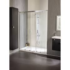 nexus rectangle shower door 55 1 8 76 3 4 2 fixed 2 sliding panel 6 mm transpa glass