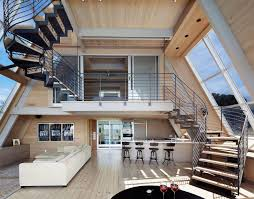 AMAZING A-FRAME HOMES: #modern living space with an open plan and a