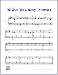 We Wish You A Merry Christmas | Free Sheet Music for Easy Piano ...