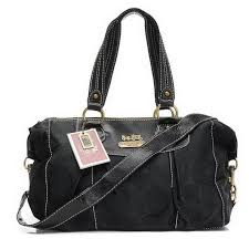 Coach Legacy Logo Signature Medium Black Luggage Bags EHI