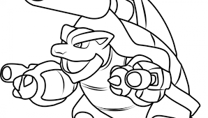 Pokemon Blastoise Drawing At Getdrawingscom Free For Personal Use