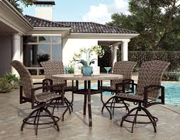 stunning counter height patio chairs outdoor patio furniture havenhill collection swivel rocker