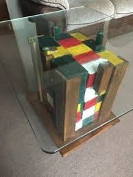 buy pallet furniture. Multi Coloured Rubics Style Block Made From Pallets Blocks On Castor Wheels For Ease Of Movement. The Glass Is Easily Removable. Buy Pallet Furniture