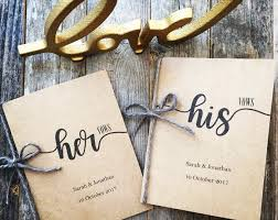 Personalized Wedding Vow Book His and Hers Personalized | Etsy