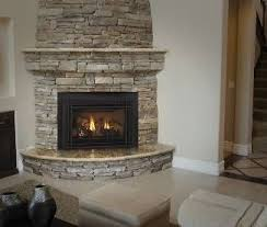 indoor stone fireplace. corner stone fireplace | love this for a #fireplace! #stone . indoor