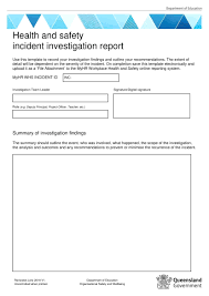 Template Corrective Action Report Examples Health And
