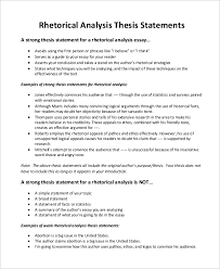 sample thesis statement examples in word pdf rhetorical analysis thesis statement