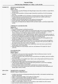 Recruiter Sample Resume Most Effective Sales Recruiter