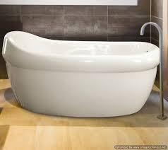 jacquelinee installed with a freestanding tub faucet