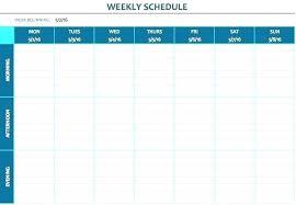 5 Team Schedule Template
