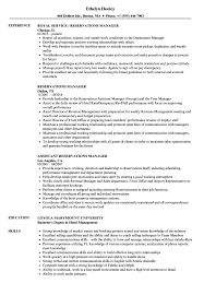 Download Reservations Manager Resume Sample as Image file