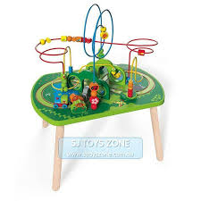 details about hape wooden jungle play and train activity table bead maze fun kids activity to