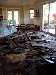 removal of water damaged flooring