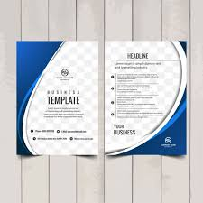catalog template free blue wavy brochure template vector free download