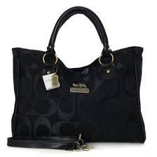 Coach Legacy In Signature Large Black Satchels 21246