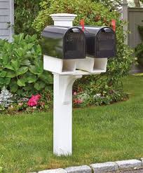 double mailbox designs. Double Twin Star Mail Post Mailbox Designs