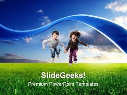 Jump Children Powerpoint Templates And Powerpoint