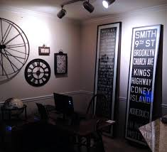 subway home office. Tall Vintage New York Subway Destination Roll Signs Framed As Art In A Home Office