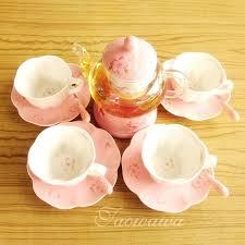 glass tea set tea pot heated fruit teapot set ceramic glass flower tea tea set style glass tea set