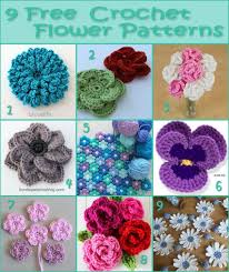 Free Crochet Flower Patterns Simple 48 Free Crochet Flower Patterns