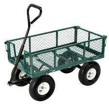 folding garden cart. Tricam Industries Farm \u0026 Ranch FR110-2 Steel Utility Cart With Removable Folding Sides Green Finish Garden W