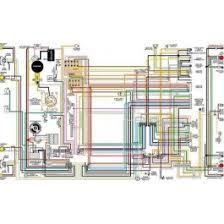 chevelle bu color laminated wiring diagram 1964 1975