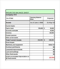 Projected Balance Sheet In Excel Vertical Format Of Balance Sheet In Excel Magdalene
