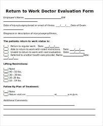 Return To Work Doctors Note Template Template In 2019 Doctors