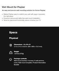 sonos mount kit for playbar