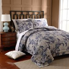 free bigdeal 3pcs duvet cover set microfiber luxury printed navy blue include quilt cover pillow cases