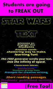 Free Star Wars Text Generator For Teachers Make Your Morning