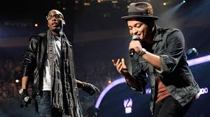 10 2010 file photo b o b and bruno mars perform at the 2010 z100 jingle ball concert at madison square garden in new york b o b is happy that mars is