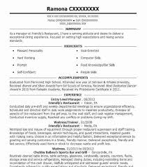 ... Entry Level Resume Examples 15 Entry Level Manager Resume Template ...