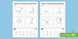 Ks1 english phase 2 phonics learning resources for adults, children, parents and teachers. Phase 2 Set 3 Cvc Words Cut And Paste Worksheet Worksheet Phase 2 Set 3