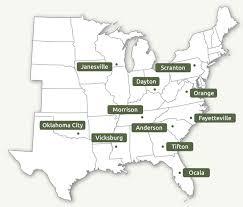union corrugating company geographic coverage