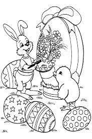 Coloriage Paques Lapins 4 Colorier Allofamille