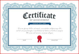 Award Templates Template Printable Achievement Certificate Template Awards 15