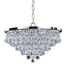 glow lighting vista 6 light faceted crystal ball and chrome chandelier