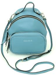 Coccinelle Cross Body Bag Mini Backpack Style Bag Light Blue Leather