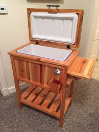 wooden cooler stand