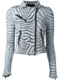 numero 10 zebra print jacket black and white women clothing leather jackets latest fashion