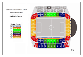 Stubhub Football Seating Chart Usmnt Vs Canada Dignity Health Sports Park