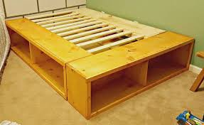 DIY Full Size Bed Frame with Storage - Leap of Faith Crafting