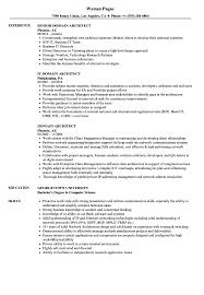 Domain Architect Resume Samples Velvet Jobs