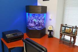 Office aquariums Wall Mounted Picture Of Home Aquarium Sitting Atop An Office Desk Doragoram Home Aquariums Office Desk Living Art Aquatics