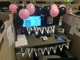 decorating an office at work. birthday work decoration late pink and black cubicle for decorationscubicle ideasoffice decorating an office at
