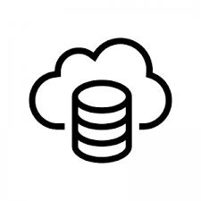 データベースとクラウドのシルエット 無料のaipng白黒シルエットイラスト