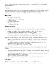 Ideas Collection Security Specialist Resume Sample About Job Summary