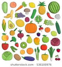 fruits and vegetables clip art. Brilliant Art XXL Collection Of Flat Fruit And Vegetable Nutrition Icons Pineapple  Watermelon Grapes In Fruits And Vegetables Clip Art